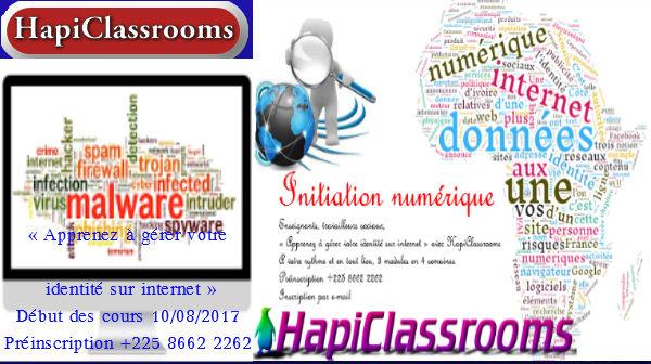 HapiClassrooms/ Initiation Numérique/ Cours:Apprenez à gérer votre identité sur internet
